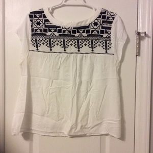 Tops - White and black blouse